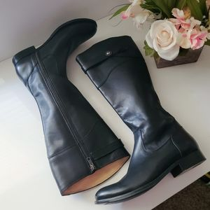 Frye Molly Riding Boots In Black